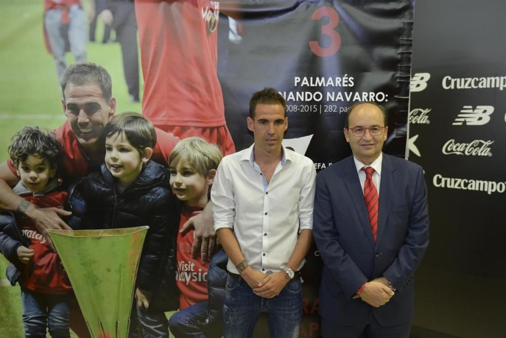 Despedida de Fernando Navarro del Sevilla F.C.