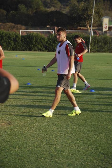 Primer entrenamiento de Immobile con el Sevilla FC