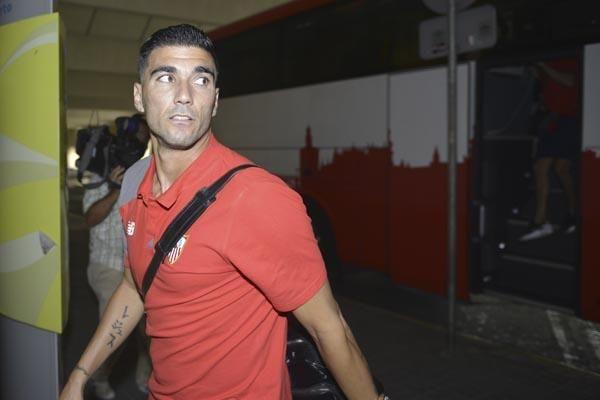 Salida del Sevilla F.C. para Atenas