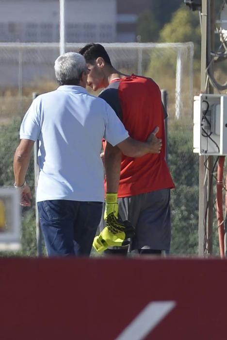 Entrenamiento del Sevilla primer día de septiembre