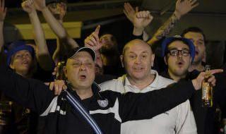 Los aficionados del Leicester disfrutan de Sevilla