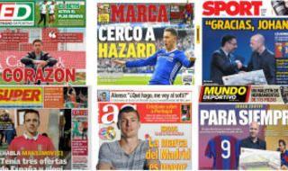 Las portadas del domingo 26/3/2017