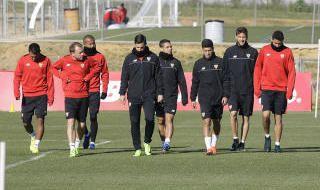 Entrenamiento del Sevilla FC (28/3/2017)