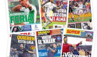 Las portadas de este domingo 30 de abril