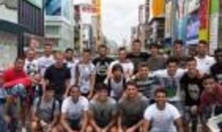 Los jugadores del Sevilla, de turismo en Osaka