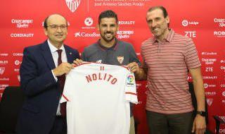 Presentación de Nolito con el Sevilla