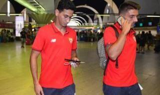La salida del Sevilla hacia Inglaterra