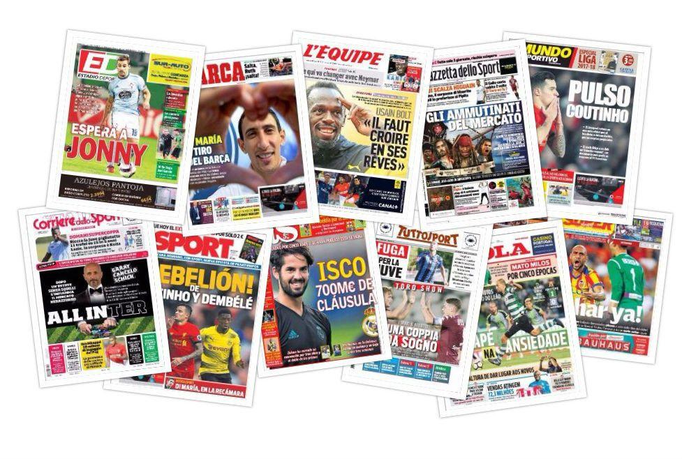 Las portadas del sábado 12 de agosto