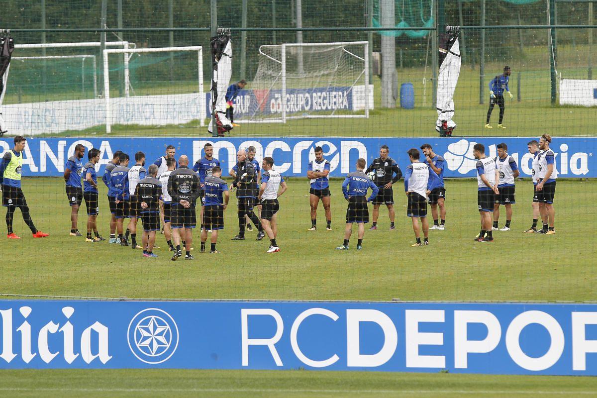 El entrenamiento del Deportivo