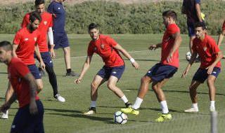 Entrenamiento del Sevilla previo al partido con Las Palmas