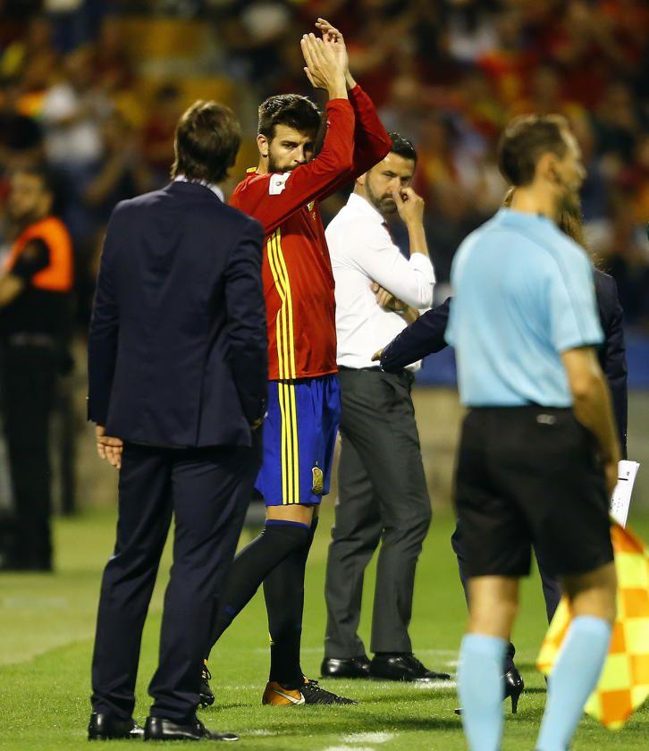 El España-Albania, en imágenes