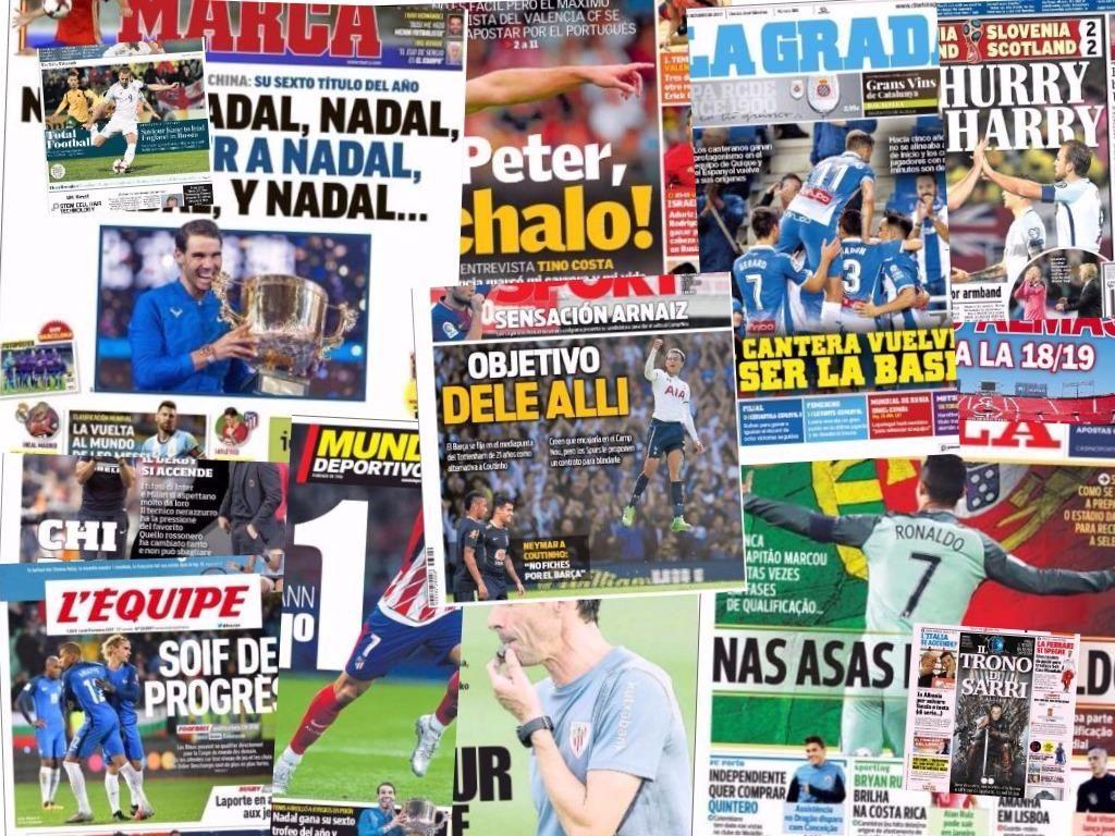 Las portadas del 9 de octubre