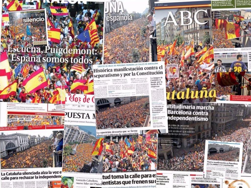 La manifestación contra la independencia