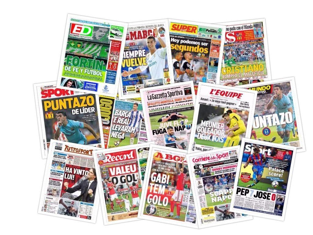Las portadas del domingo 15 de octubre