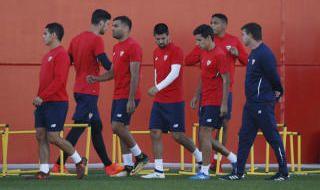 El entrenamiento del Sevilla