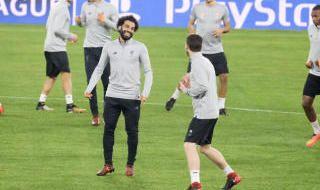 El entrenamiento del Liverpool en el Sánchez-Pizjuán