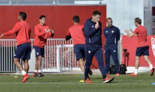 Entrenamiento del Sevilla del 22 de noviembre
