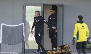 Entrenamiento del Betis (8/12/2017)