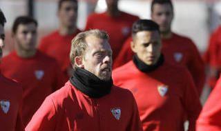 Entrenamiento del Sevilla FC (15/1/2018)