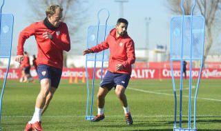 Entrenamiento del Sevilla del 18 de enero