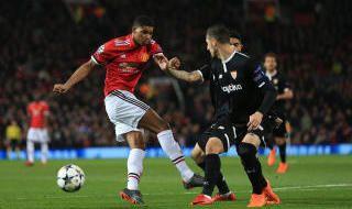 Las mejores imágenes del United-Sevilla F.C.