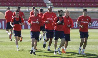 Entrenamiento del Sevilla FC (22/3/2018)