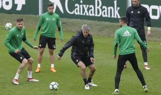 Entrenamiento del Betis (23/3/2018)