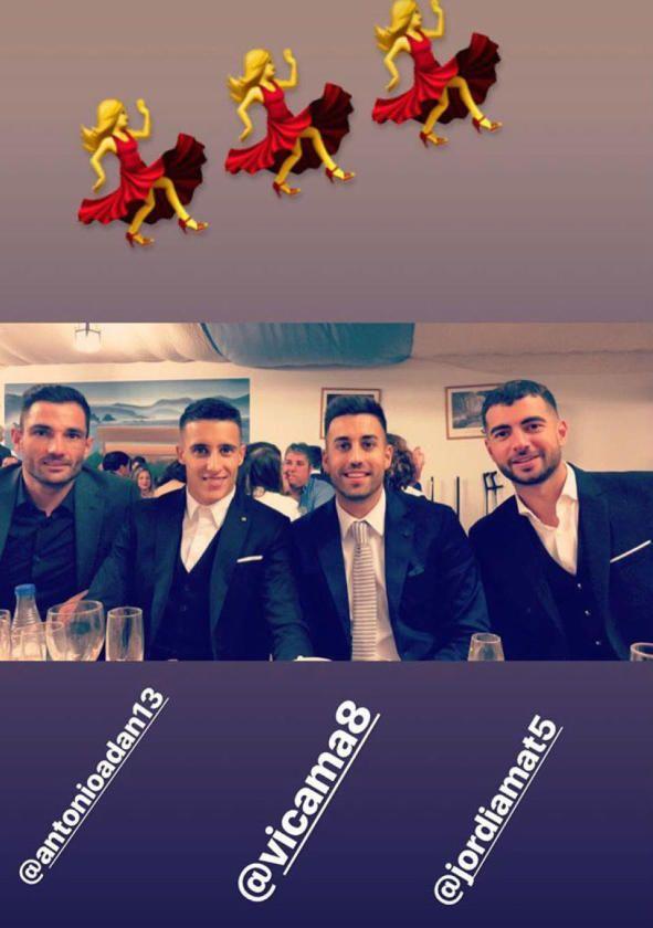 Los jugadores del Betis, en la Feria