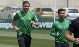 Entrenamiento del Betis (23/4/2018)