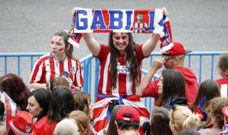 La celebración del Atlético por la Europa League