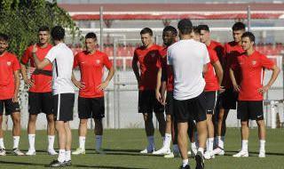 Primer entrenamiento de Pablo Machín en el Sevilla 18/19