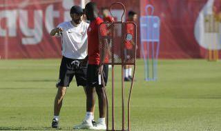 Segundo día de entrenamientos en el Sevilla