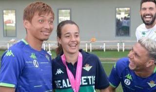 Rosa Márquez, protagonista en el entrenamiento del Betis