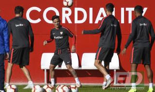Entrenamiento del Sevilla (19/10/2018)