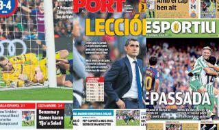 El triunfo del Betis, en las portadas catalanas