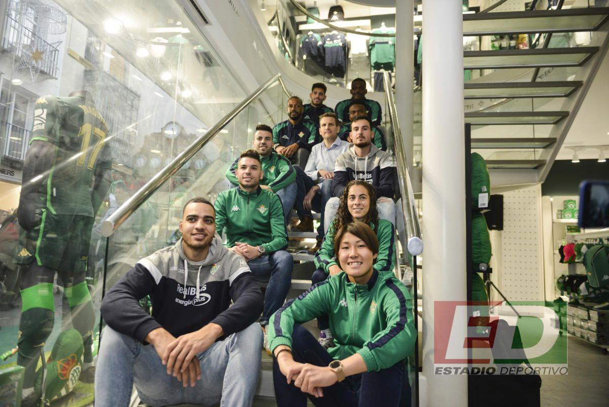 La inauguración de la nueva tienda del Betis, en Sierpes - estadiodeportivo.com