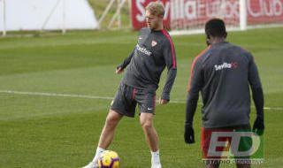Entrenamiento del Sevilla FC del 14 de diciembre