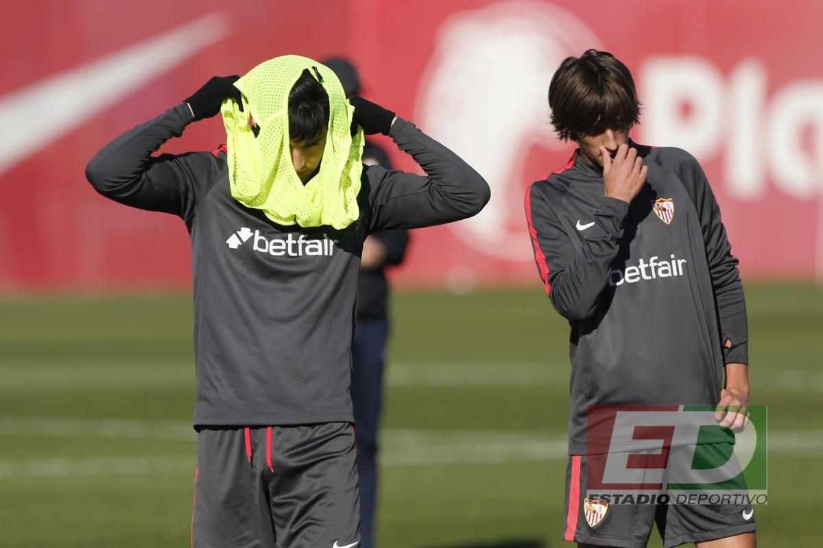 Entrenamiento del Sevilla (2/1/2017)