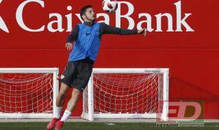 Entrenamiento del Sevilla del 15 de enero