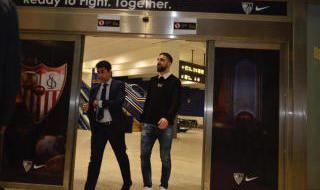 Las imágenes de la llegada de Dabbur a Sevilla