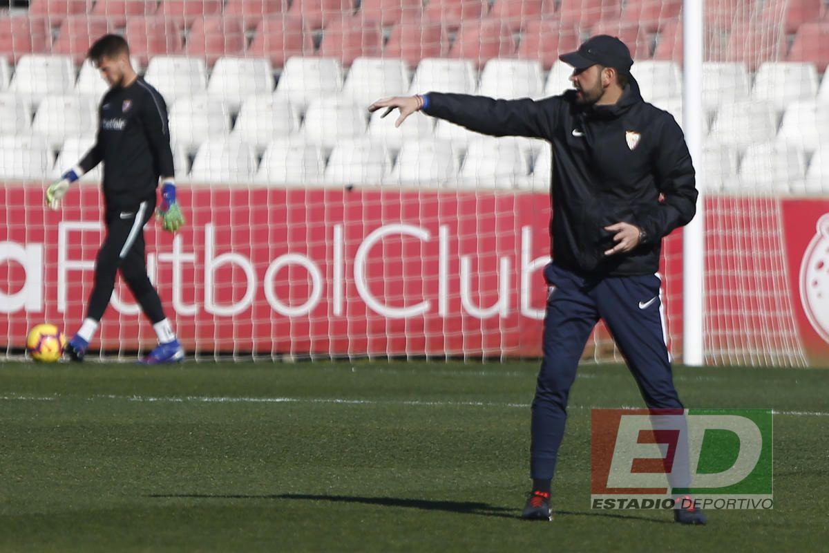 Entrenamiento del Sevilla (7/2/2017)