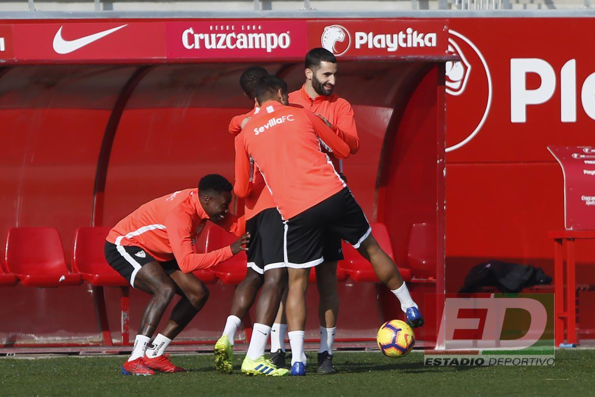 Entrenamiento del Sevilla (9/2/2019)