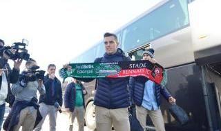 Salida del Betis hacia Rennes