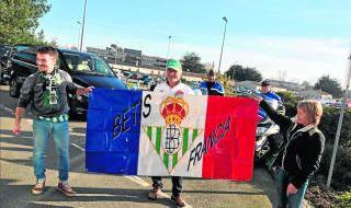 Aficionados del Betis en Rennes