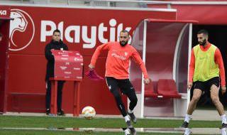 Entrenamiento del Sevilla (18/2/2019)
