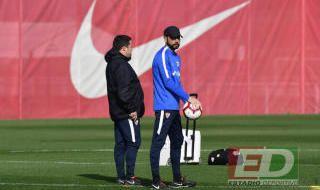 Entrenamiento del Sevilla del 21 de febrero