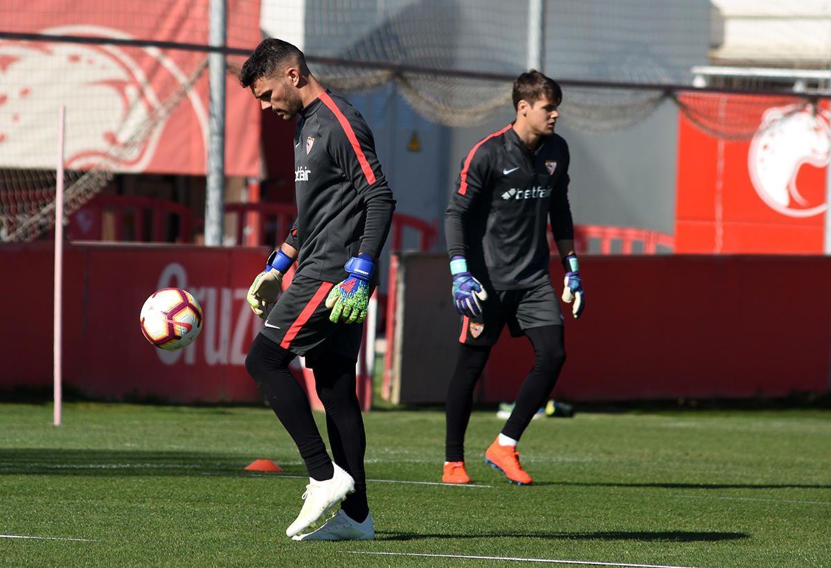 Entrenamiento del Sevilla (11/4/2019)