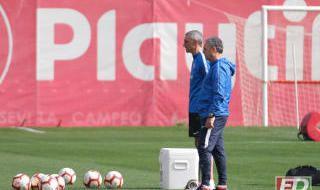 Entrenamiento del Sevilla (22/4/2019)