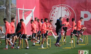 Entrenamiento del Sevilla (23/4/2019)