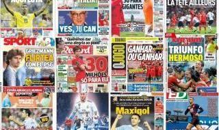 Las portadas del 9 de junio